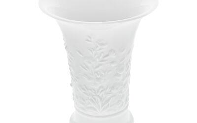 Vase Blütenrelief