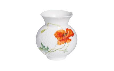 Vase Wilder Mohn, rot