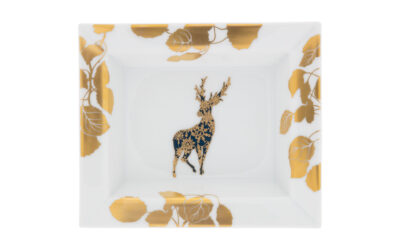 Vide Poche mittel – Hirsch mit goldenen Blättern