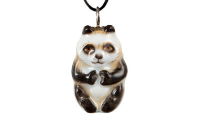 Anhänger Natur Halrelief Panda