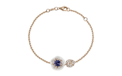Armband Tansanit Blau 750 Roségold