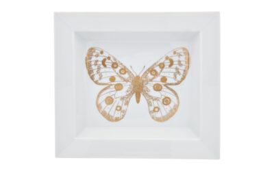 Vide poche groß mit Schmetterling / Meissen