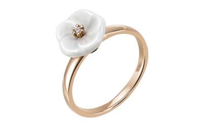 Ring 1 Blüte, 750 Roségold