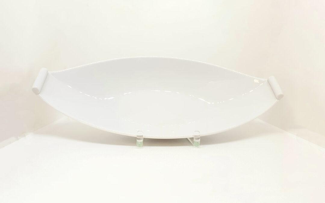 Schale oval weiß