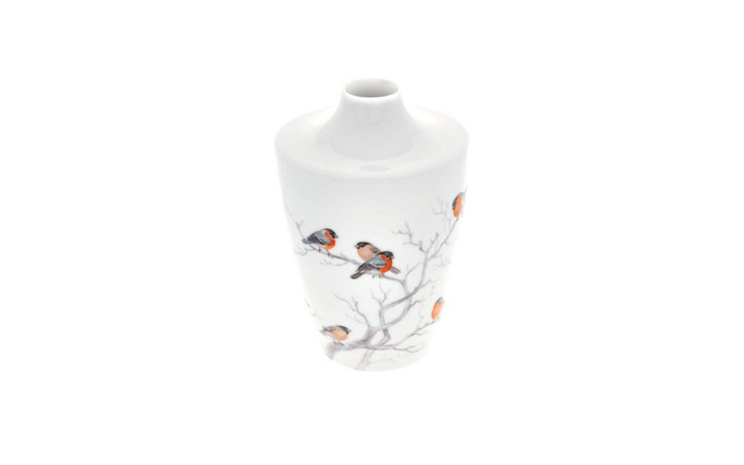 Vase Vogelmalerei Gimpel