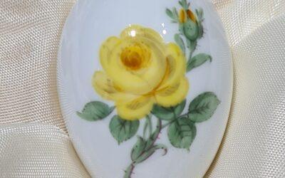 Miniaturei Gelbe Rose / Meissen