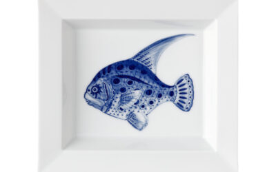 Vide Poche Fisch blau, Blue Treasures