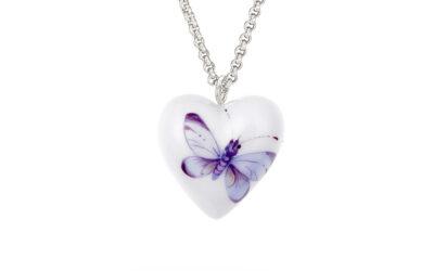 Anhänger Herz Größe M Schmetterling