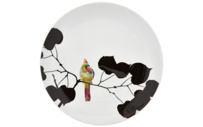 Wandteller Spring Cardinal Flying Jewels