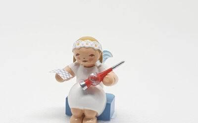 Margaritenengel mit Christbaumspitze