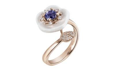 Ring Tansanit Blau 750 Roségold